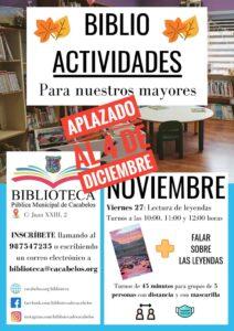 Biblioteca de Cacabelos - actividades para adultos
