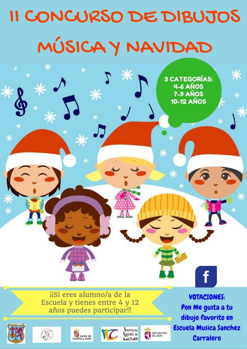Dibujos De Navidad Creativos.Ii Concurso De Dibujos Musica Y Navidad Ayuntamiento De