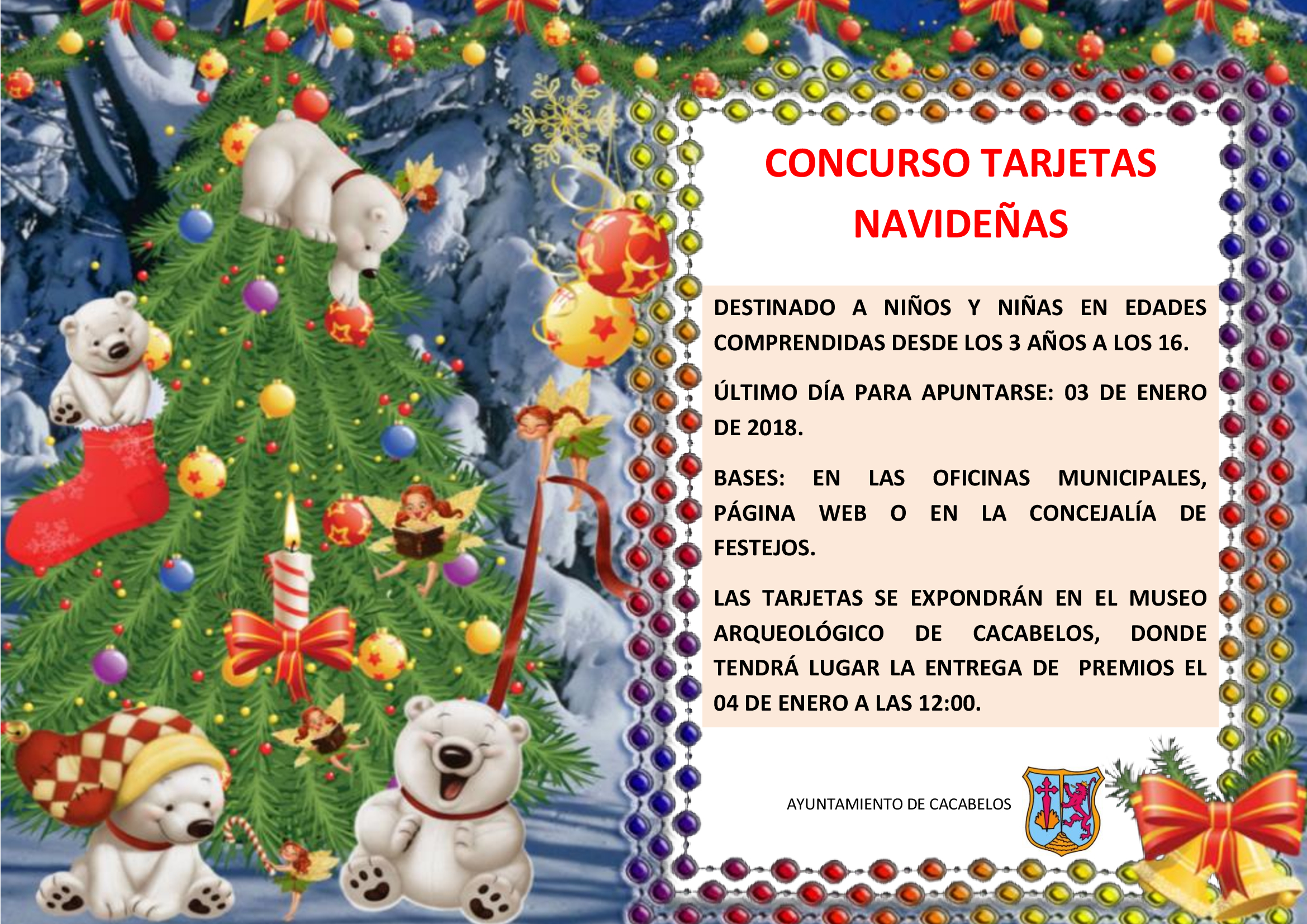 concurso de tarjetas navideñas ayuntamiento de cacabelos